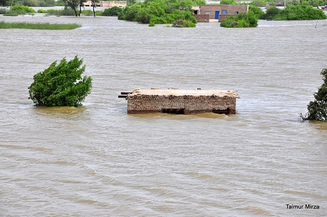 Submerged house in Jamshoro