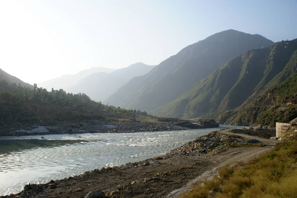 Indus river at Besham