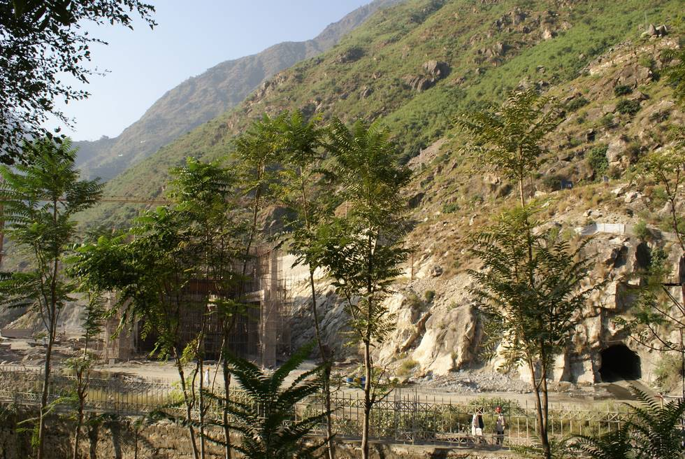 Hydro-electric power station is being constructed next to the PTDC hotel