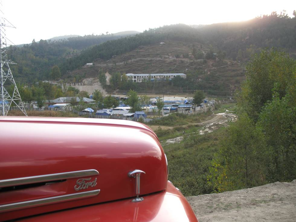 A tent village near Battagram
