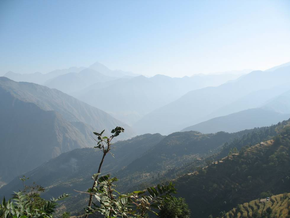 View of the Kohistan mountains