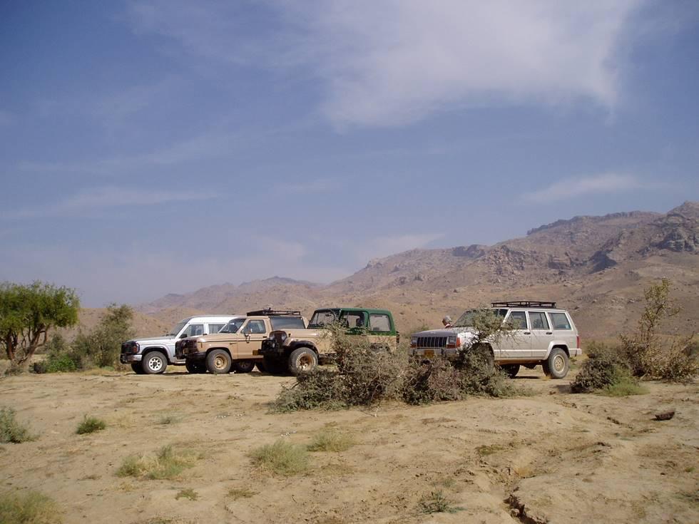 Jeeps at Lake