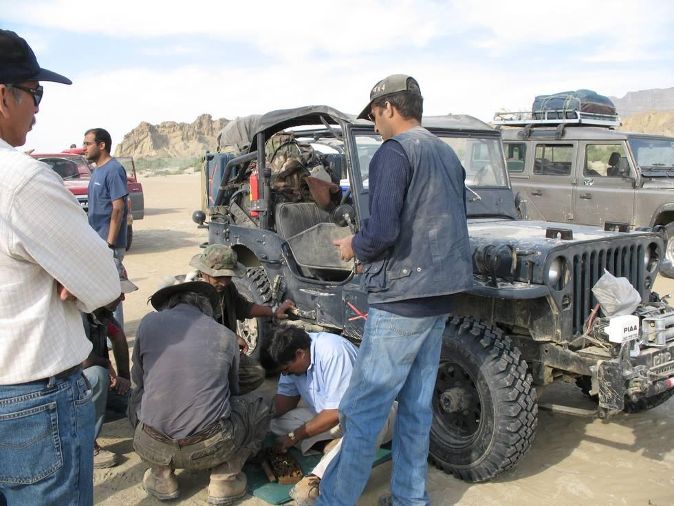 The Karachi rebuilt M38 with it's first breakdown
