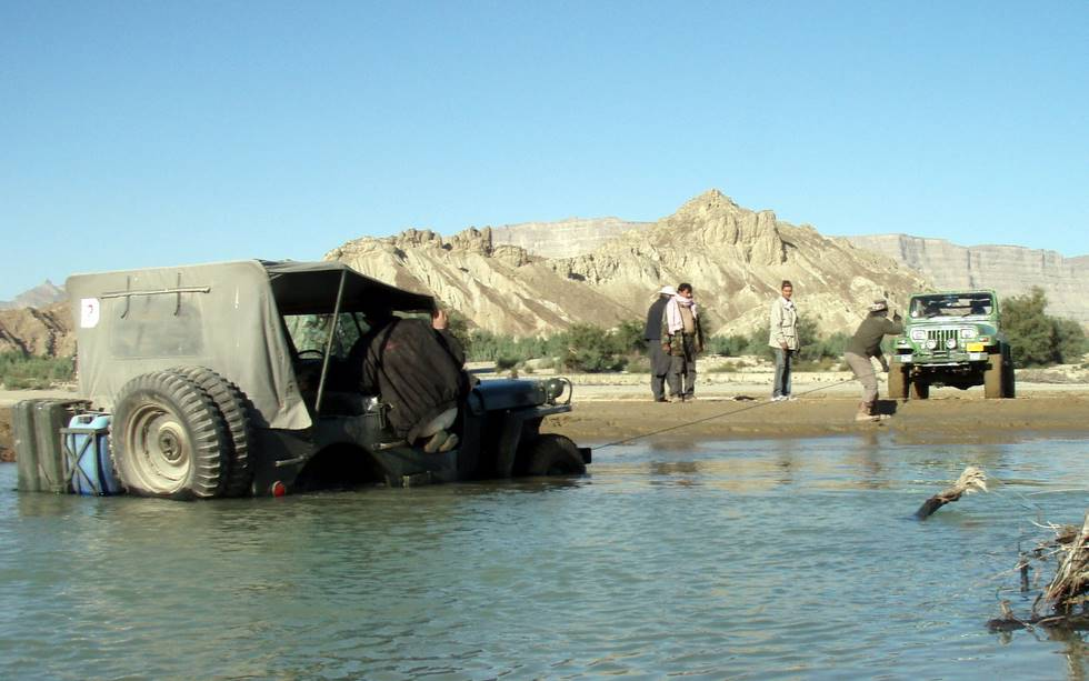 The 4th Jeep (actually the Ford version from the 2nd World War era) to get stuck or nearly drowned!