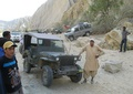 Wazir Ahmad with his old Jeep