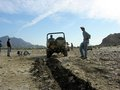 Ploughing a furrow in the Hingol River bed