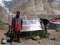 Solar panels at Urdukas