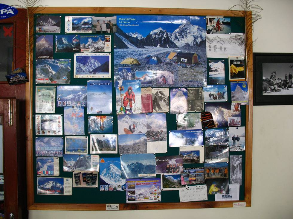 The board at the Indus Motel