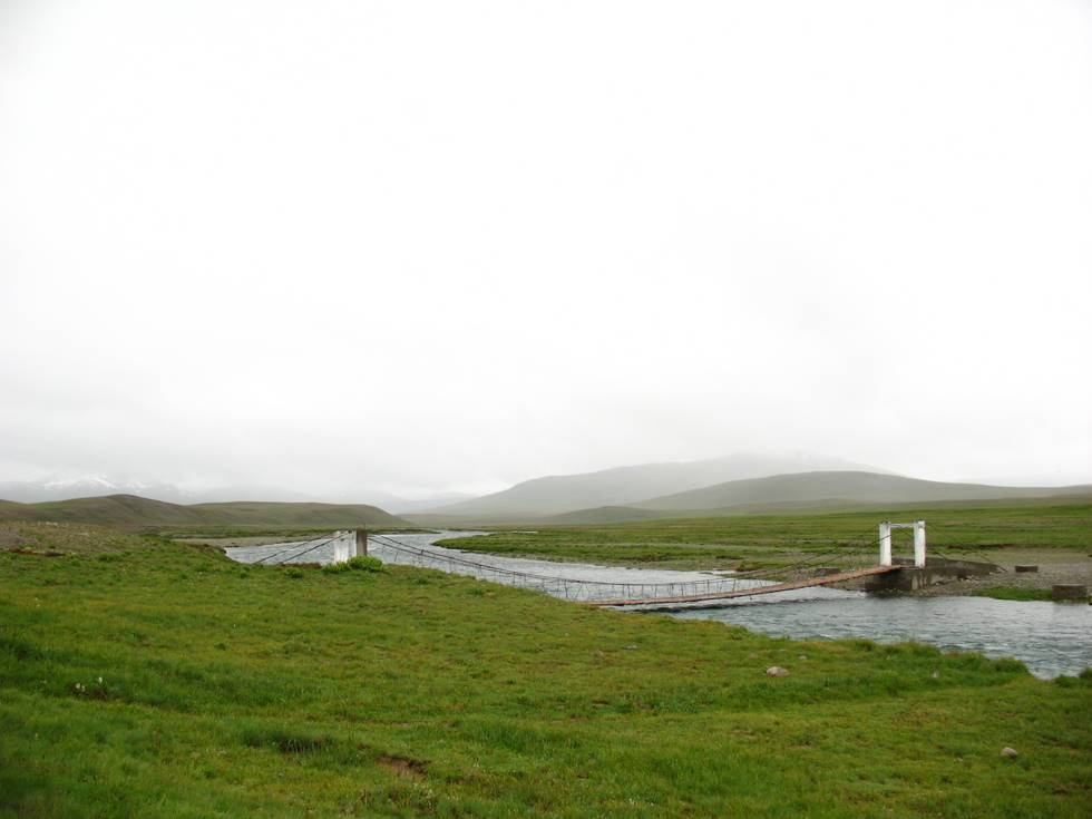 Another view of the bridge at Deosai