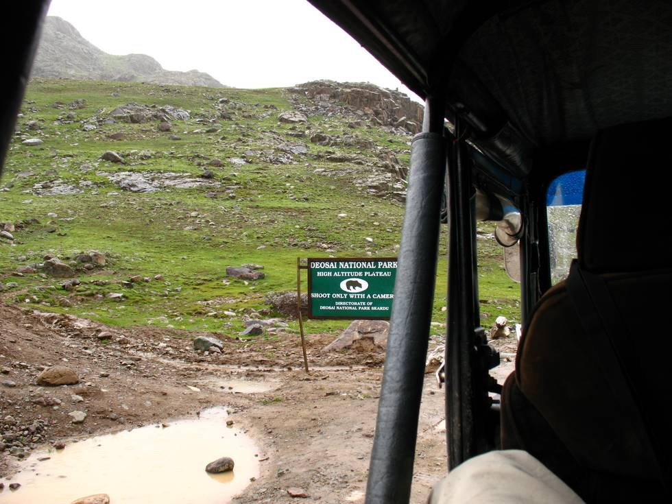 Driving through Deosai