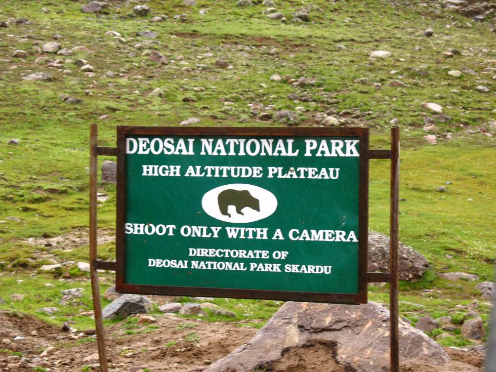 Deosai park sign