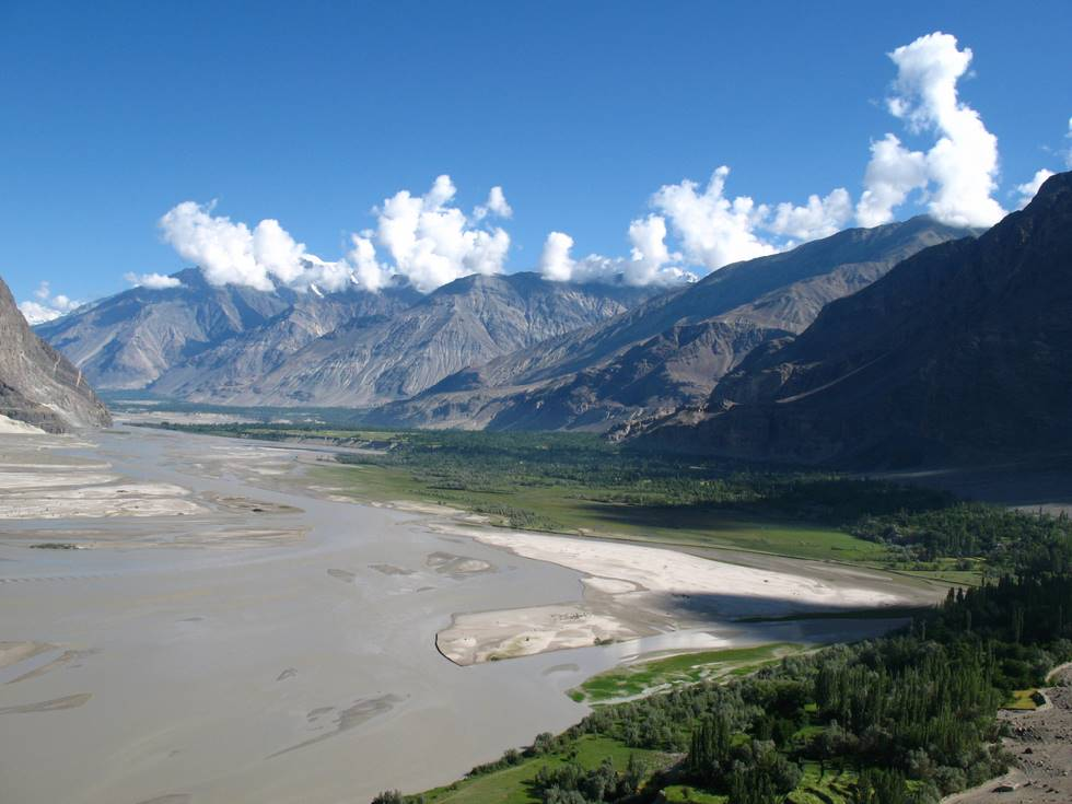 The Indus river from Askole road