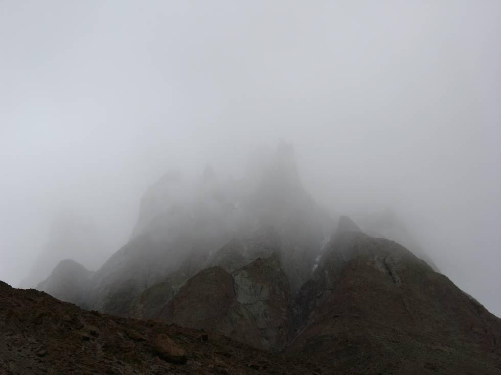 Paiju Peak shrouded in clouds