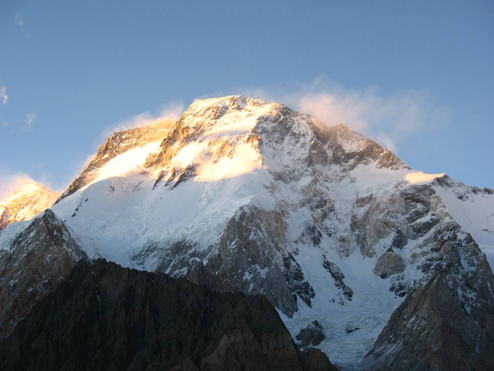 Sunlight on Broad Peak