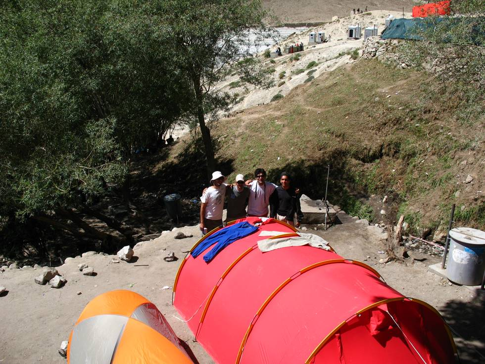 Our tents at Paiju