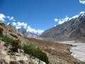 First view of the Baltoro glacier