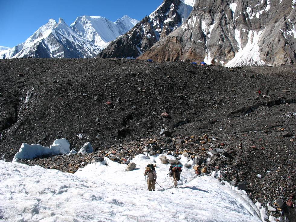 Hiking to K2 base camp from Concordia