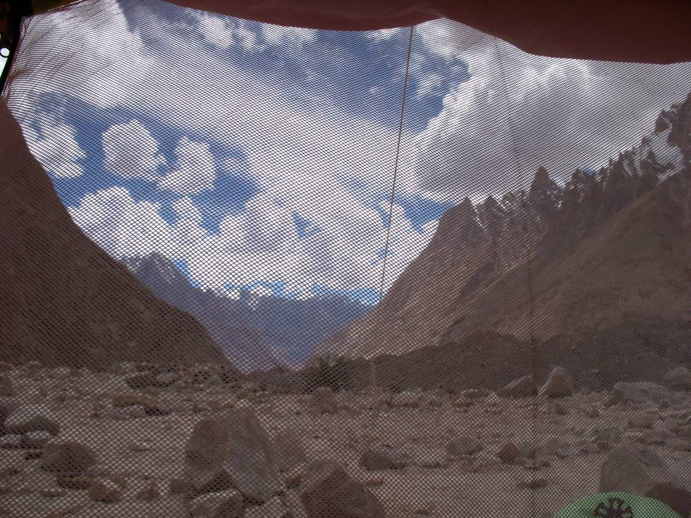 View from inside the tent at Liligo