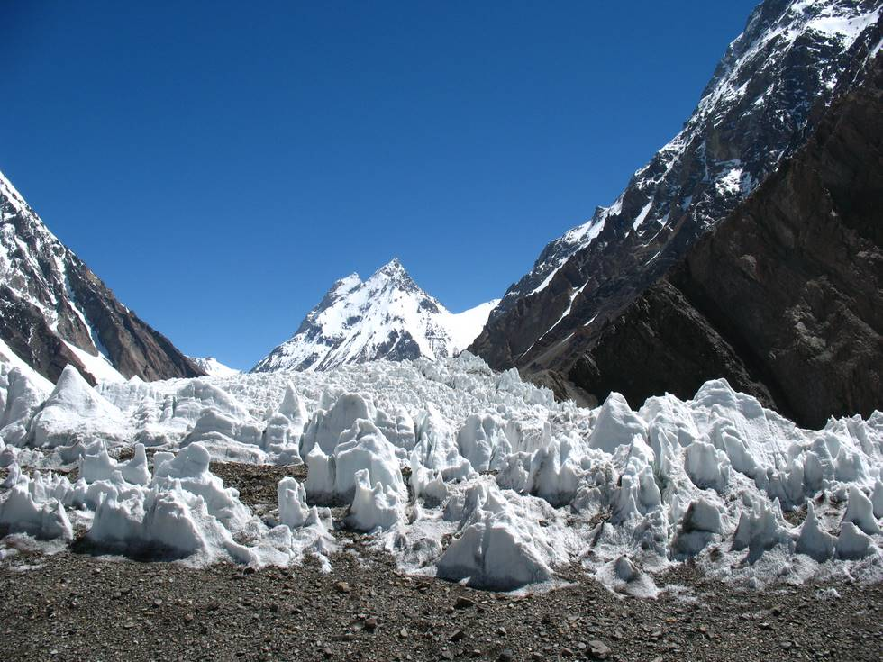 Ice field at K2