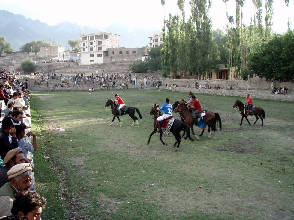A polo match at Skardu