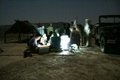 The medical camps going on at night