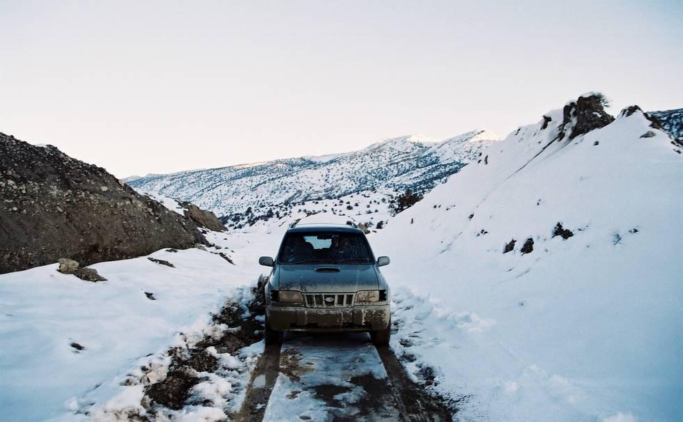 Kia Snowy Road