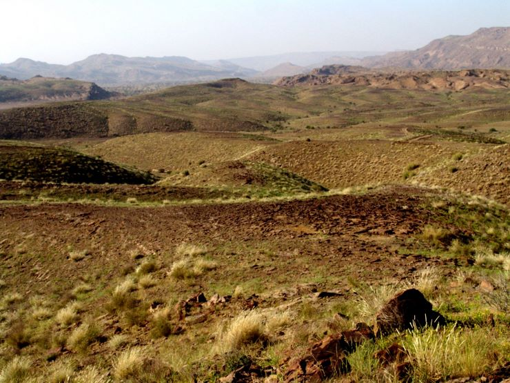 The rolling country of Sorh Valley, Baluchistan