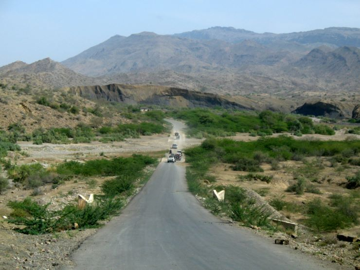 On way to Sorh Valley, Baluchistan - about an hour away from Karachi