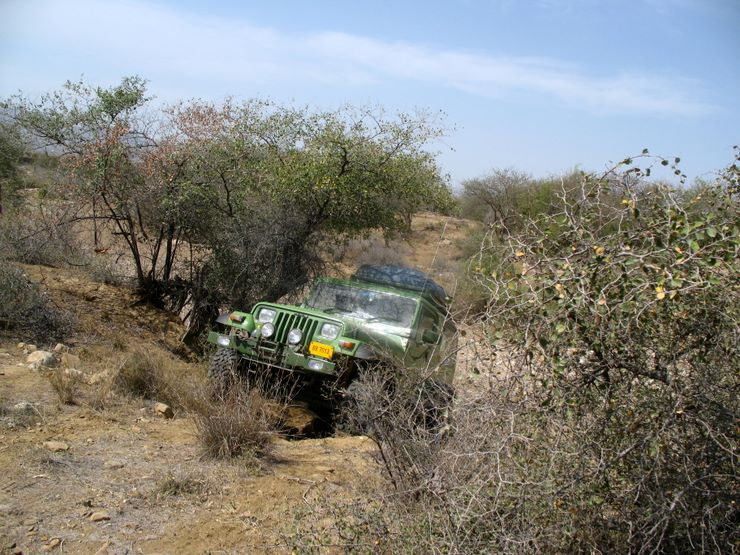 "Taimur""s Wrangler Jeep - it had no problem overcoming the toughest terrain!"