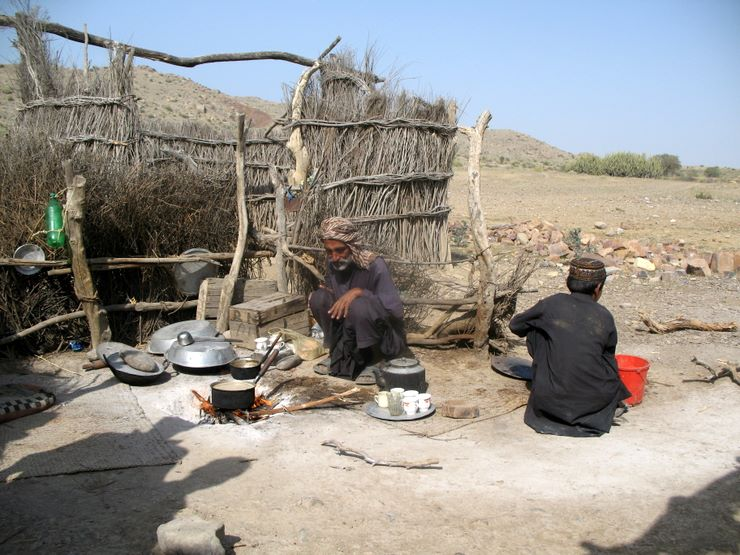 Tea being prepared for the Offroaders in Sorh Valley, Baluchistan