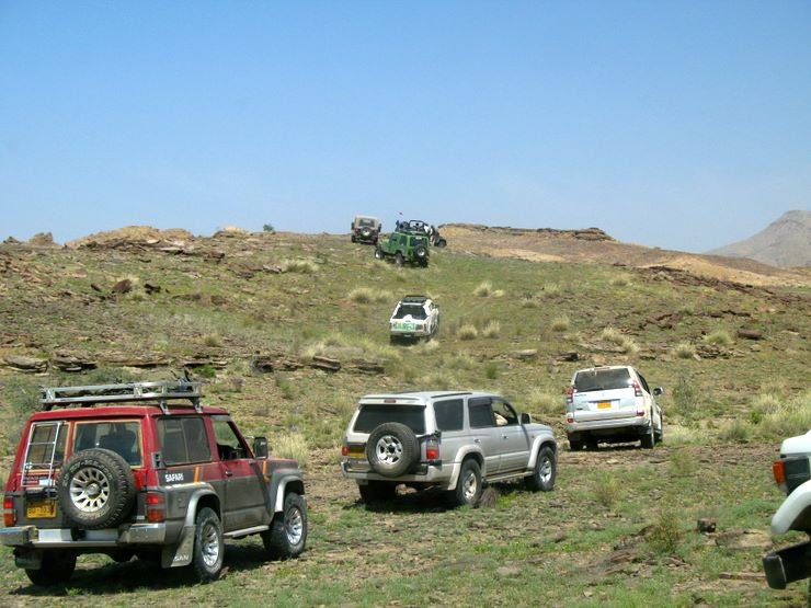 Some of the hills were quite green after the rains in Sorh Valley, Baluchistan