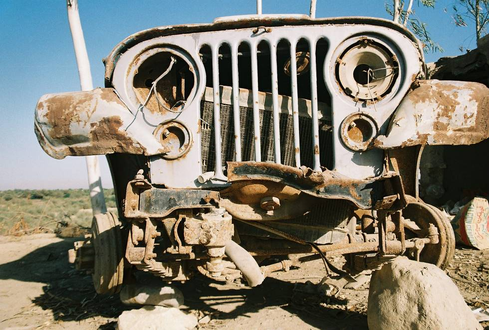 A CJ5 awaiting resurrection