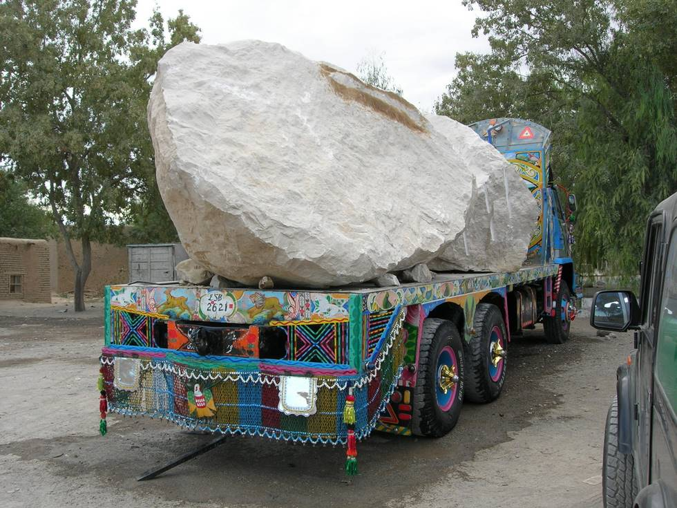 Marble being trucked to Karachi