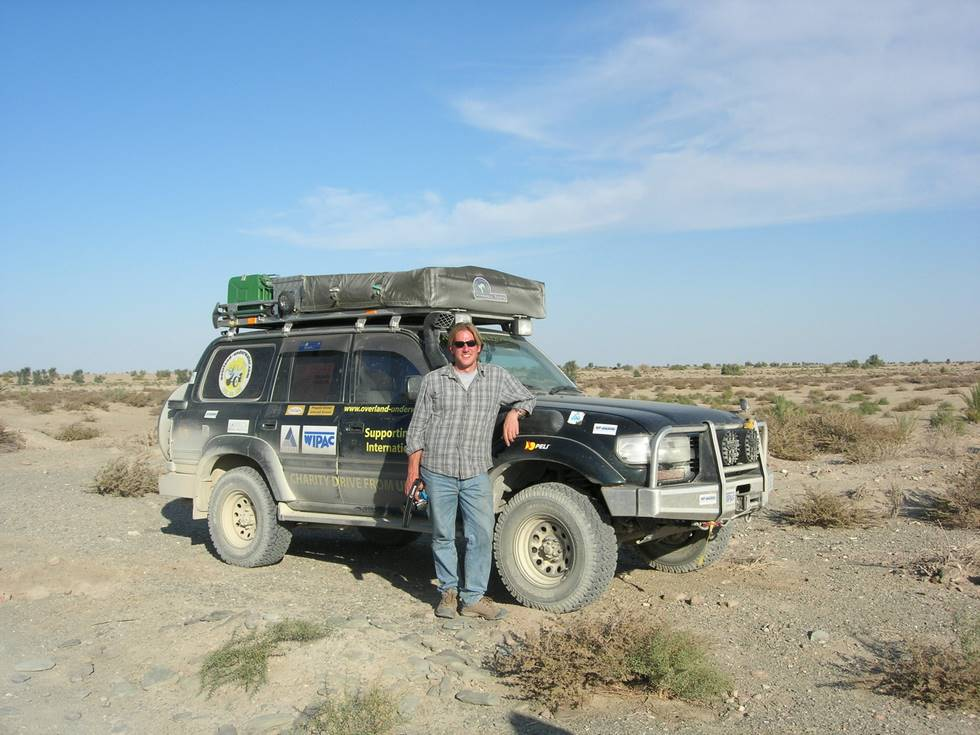 Martin alongside his Landcruiser