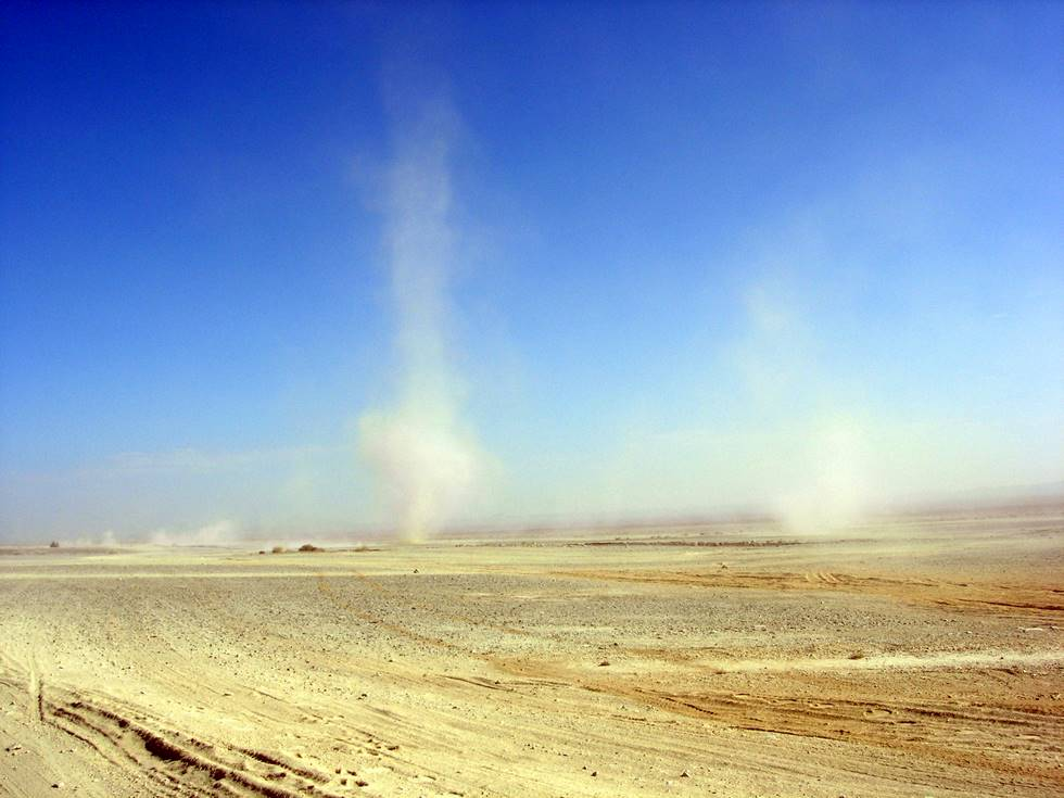 Three dustdevils