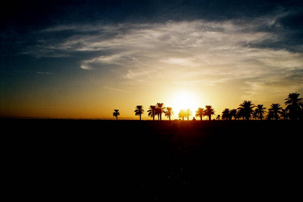 Sunset in the Mashkell desert